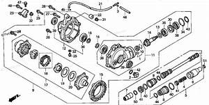 Honda Atv 2001 Oem Parts Diagram For Front Final Gear