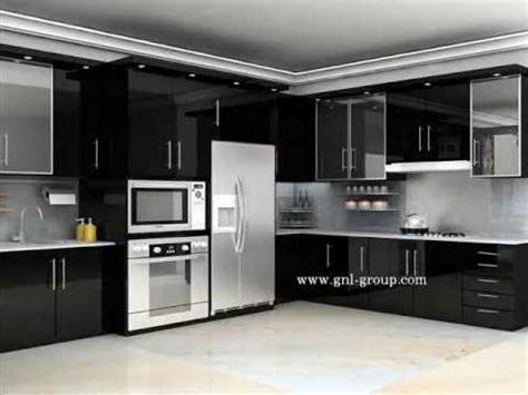 desain kitchen set minimalis youtube
