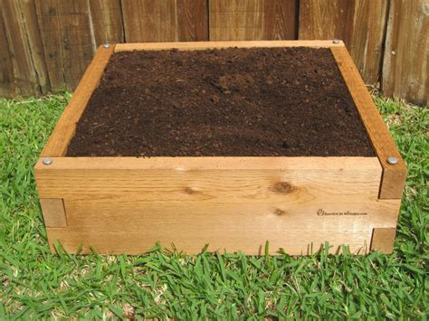 bed garden 2x2 raised garden bed cedar bed gardeninminutes