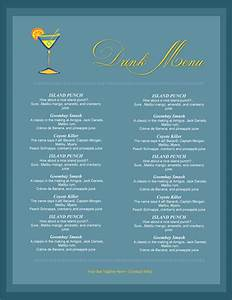 5 attractive drink menu templates for your bar business With drink menu templates microsoft word