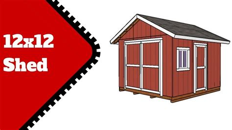 12x12 Shed Plans Free | Shed plans, Small shed plans, Shed