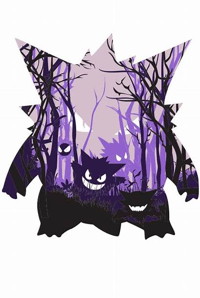 Gengar Pokemon Ghost Qwertee Iphone Cool Shirt