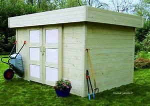 Chalet Bois Toit Plat : abri de jardin 28mm moderne toit plat stockholm solid ~ Melissatoandfro.com Idées de Décoration
