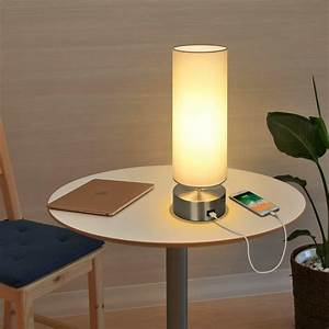 Usb, Table, Lamp, Touch, Control, Bedside, Nightstand, Lamp