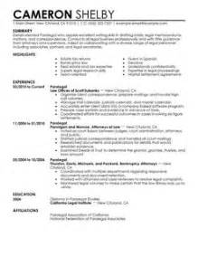 paralegal resumes that stand out paralegal resume exle sle resumes livecareer