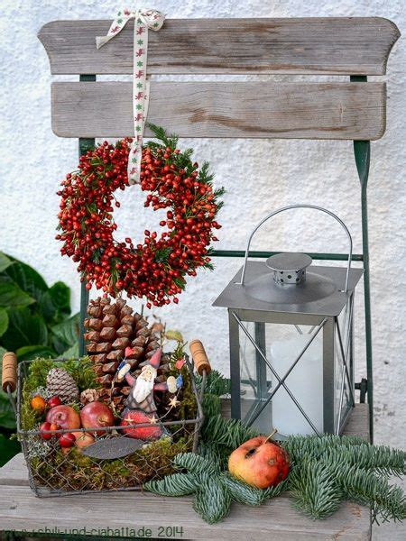 lenschirm selber machen stehle pin tina stehle auf weihnachtsdeko hauseingang deko winter weihnachten und