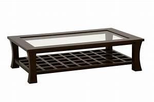 Table Basse Verre Bois : table basse rectangulaire avec plateau en verre jorg 5392 ~ Teatrodelosmanantiales.com Idées de Décoration