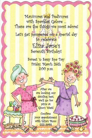 girls spa party invitation wording  spa girl