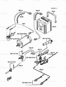 Kawasaki Jet Ski 1990 Oem Parts Diagram For Electrical