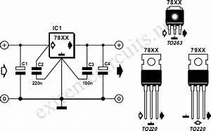 78xx Voltage Regulators Circuit Diagram