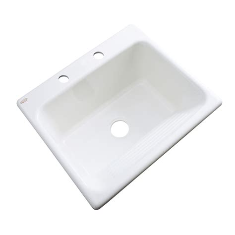 shop dekor white acrylic drop in laundry sink at lowes com