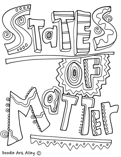 mater coloring pages states of matter printables classroom doodles