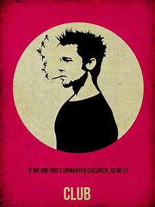 Fight Club Poster Painting by Naxart Studio