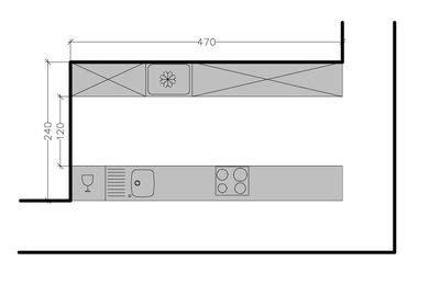 plan cuisine en parall e 267239 8 plans de cuisine en disposition parallele a