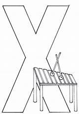 Xylophone Drawing Coloring Getdrawings sketch template