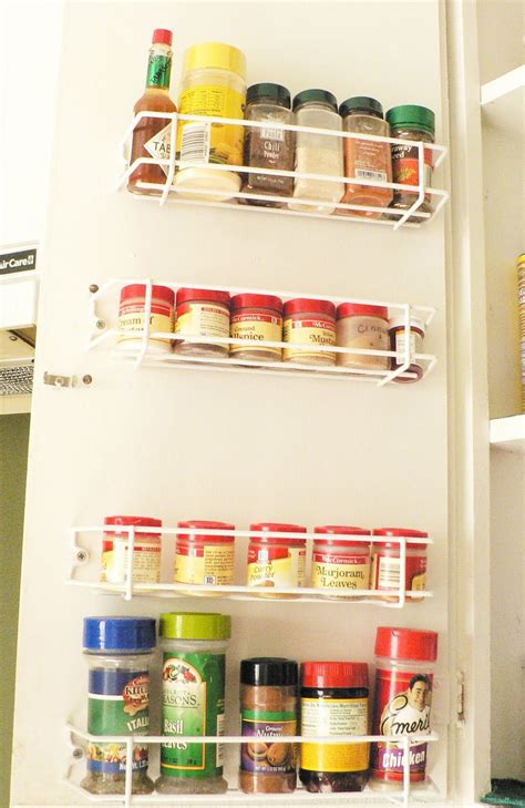 spice racks for kitchen cabinets cabinet door spice rack