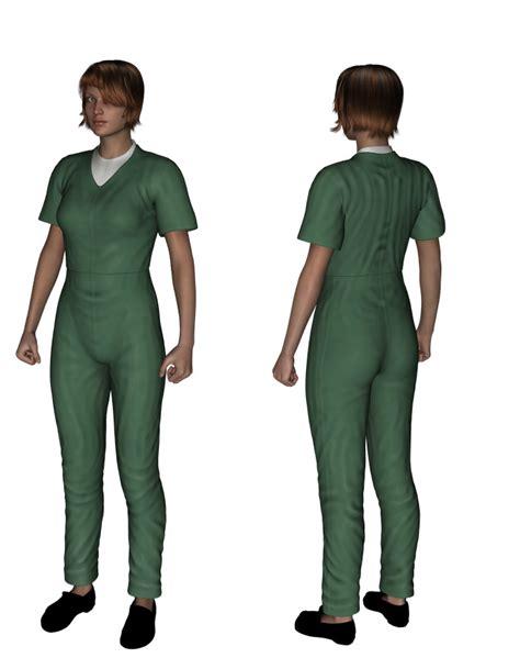 prison jumpsuits prison jumpsuit genesis 3d figure assets oskarsson