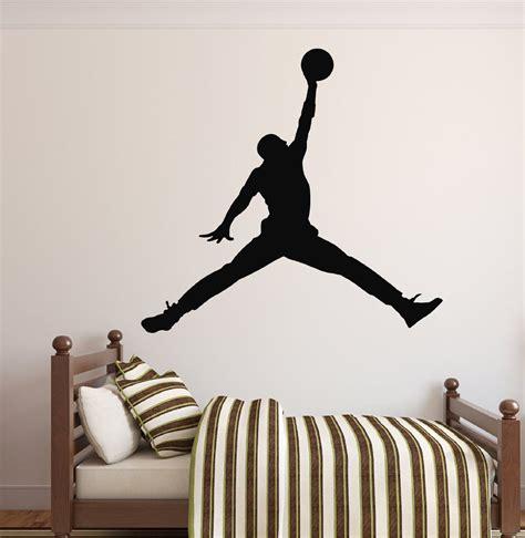 Air jordan logo wall decal basketball vinyl sticker art poster gym decor 102nnn. Amazon.com - Michael Jordan Wall Decal - Basketball Wall Decor - Home Decor - Jumpman Wall Decal ...