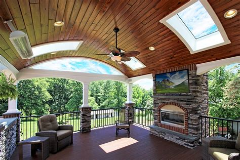 custom azek deck barreled porch  holland pa
