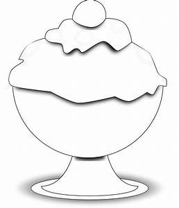 Ice Cream Cup Clip Art Black And White | Clipart Panda ...