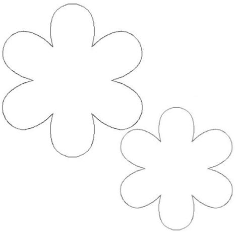 printable flower template cut out 8 best images of flower templates to cut out flower cut out template flower shape cut out