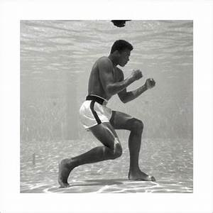Muhammad Ali, Underwater Poster, Art Print, Photo, Picture