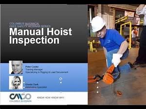 Safety Webinar  Manual Hoist Inspection