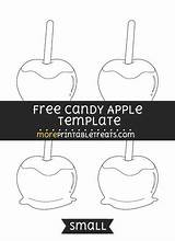 Apple Template Candy Templates Apples Printables Caramel Shapes Medium Moreprintabletreats sketch template