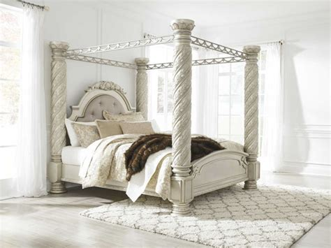 ashley furniture cassimore king poster canopy bed