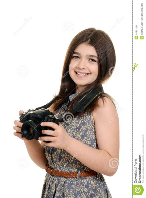Little Girl With DSLR Royalty-Free Stock Photo ...