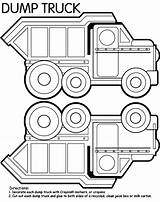 Dump Truck Coloring Pages Box Crayola Construction Trucks Sheets Printable Garbage Craft Preschool Birthday Activity Clipart Colouring Drawing Tonka Cars sketch template