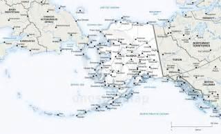 Alaska Map with Cities