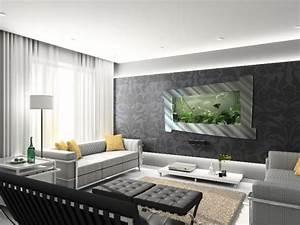 Wohnzimmer Ideen Wand : aquarium ideen 108 designs zum integrieren in der wohnung ~ Michelbontemps.com Haus und Dekorationen