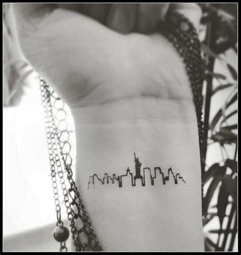 New York City Skyline Tattoo Design