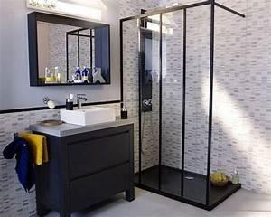 35 salles de bains modernes avec accessoires shopping for Salle de bain design avec vasque en verre castorama