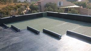 Etanchéité toiture terrasse inaccessible auto protégé avec isolation thermique Saint Maximin