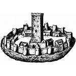 Clipart Town Castle Medieval Icon Icons Community