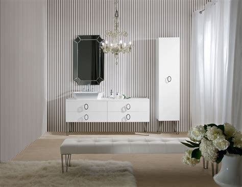 daphne  high  bathroom vanity  white lacquer wood