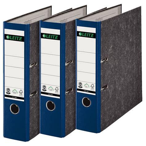 leitz    ordner  breit karton blau eoffice