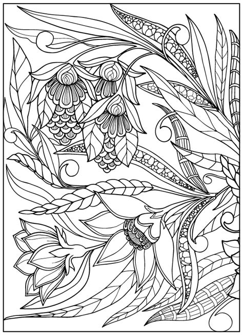 vintage flower coloring pages  behance