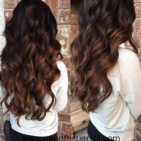 ombre braun rot braun zu rot ombre haar farbe stil glam balayage hair