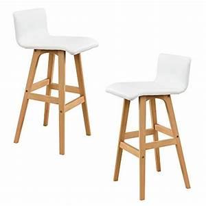Tabouret De Bar Chez Casa : en casa tabouret de bar en kit de 2 h tre blanc chaise de bar comptoir bar tabouret ~ Teatrodelosmanantiales.com Idées de Décoration