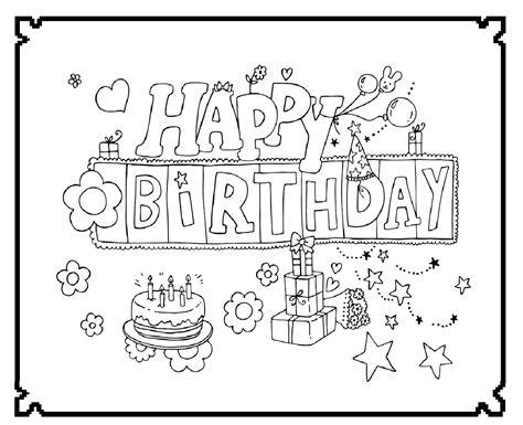 Donuts Kleurplaat Hapy Birthday by Happy Birthday Feest Kleurplaten Wensjes