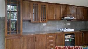 Contemporary Kitchens And Cherry Pine Wood Storage Pantry