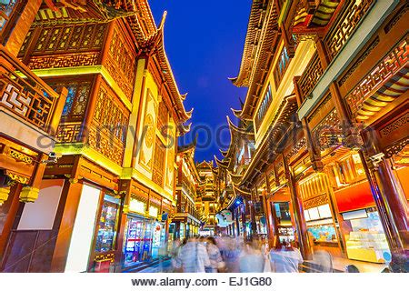 Der Yuyuan Garten by Traditionelle Chinesische Architektur An Der Basar Der