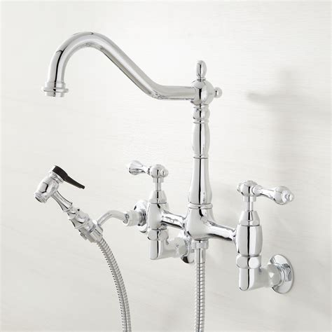 Wall Mount Kitchen Faucet With Spray by Felicity Wall Mount Kitchen Faucet With Side Spray Wall