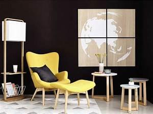 fauteuil jaune la couleur intemporelle et tendance With tapis de gym avec cocktail scandinave canapé