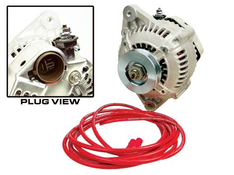 3 Wire 140 Alternator Wiring Diagram direct fit high output alternator 140 1985 1992 22r