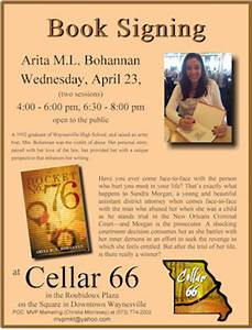 cellar66 With book signing poster template
