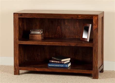 Small Low Bookcase by Solid Wood Bookcase Casa Handcrafted Sheesham